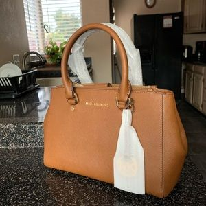 Michael Kors luggage brown small sutton satchel